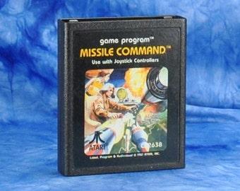 Vintage Atari 2600 Game Missile Command 1980
