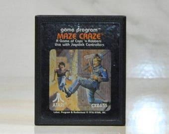 Vintage Atari 2600 Game, Maze Craze, Atari, 1979
