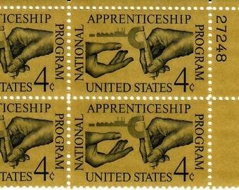 Vintage Postage Stamps Apprenticeship Program 1962, 4 4 Cent Stamps, Scott 1201