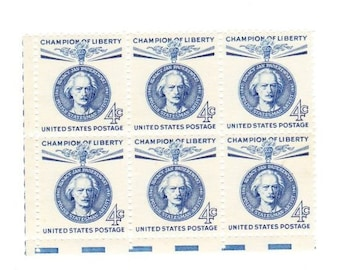 Vintage Postage Stamps Champion Of Liberty Ignacy Paderewski 1960, 6 4 Cent Stamps, Scott 1159