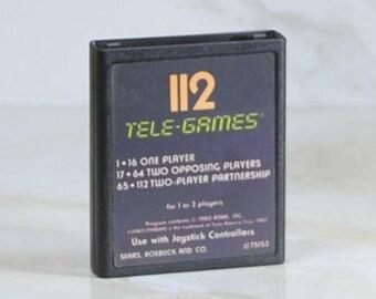 Vintage Atari 2600 Game, Space Invaders, Sears Tele-Games, 1978