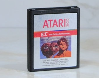 Vintage Atari 2600 Game, E. T. The Extra-Terrestrial, Atari, 1982