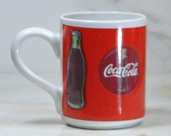 Vintage Coca-Cola Cup, Coke, Coffee Cup, 1997, Dinnerware, Mug, Gibson Housewares, China, Coca-Cola Brand, Drinking Cup, Drinking Mug