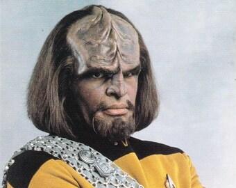 Vintage Postcard, Star Trek, Lieutenant Commander Worf, Next Generation, 1992