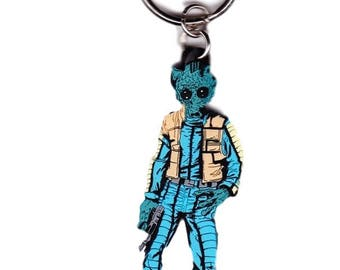 "Vintage Greedo 3.5"" Rubber Key Chain"