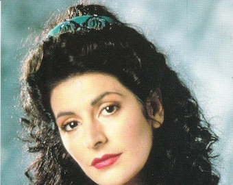 Vintage Postcard, Star Trek, The Next Generation, Deanna Troi, 1991