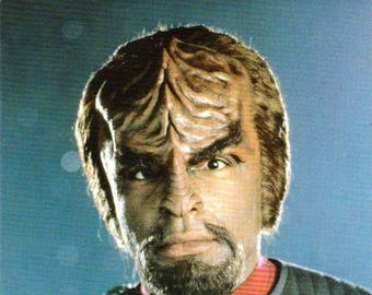 Vintage Postcard, Star Trek, Lieutenant Commander Worf, First Contact, 1996
