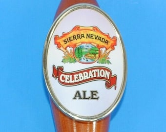 Beer Tap Handle Sierra Nevada Celebration Ale Wooden Pull Tap Handle 11.25""