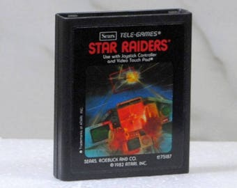 Vintage Atari 2600 Game, Star Raiders, Sears Tele-Games, 1979