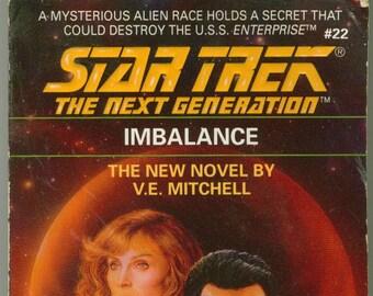 Vintage Star Trek Book, Imbalance No 22 1992 Paperback, Star Trek The Next Generation