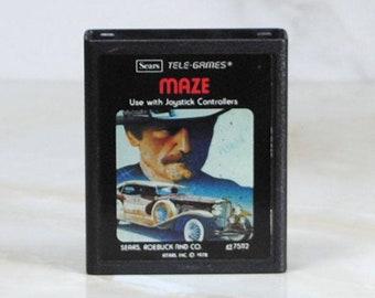 Vintage Atari 2600 Game, Maze, Sears Tele-Games, 1978