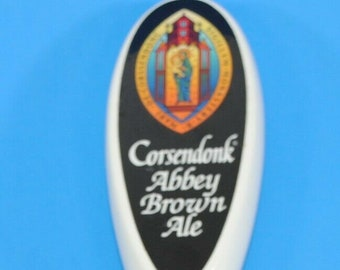 Beer Tap Handle Corsendonk Abby Brown Ale Wooden Pull Tap Handle 12""