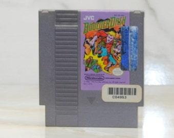 Vintage Nintendo Game BoulderDash JVC 1984, First Star, Rockford, Caves, Gems, Diamonds, Roller Coaster, The Pit, Creatures, Monsters