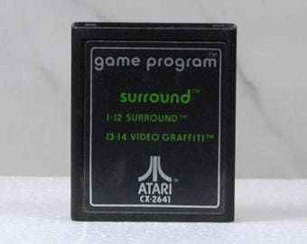 Vintage Atari 2600 Game, Surround, Atari, 1977