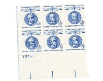 Vintage Postage Stamps Champion Of Liberty Gustaf Mannerheim 1960, 6 4 Cent Stamps, Scott 1165