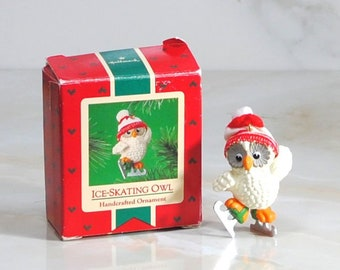 Vintage Hallmark Ornament Ice-Skating Owl, 1985