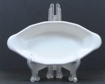 Vintage White Pfaltzgraff Heritage Au Gratin Dish, 1960's