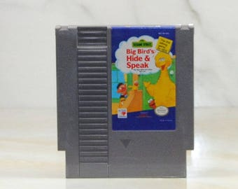 Vintage Nintendo Game Big Bird's Hide & Speak 1989