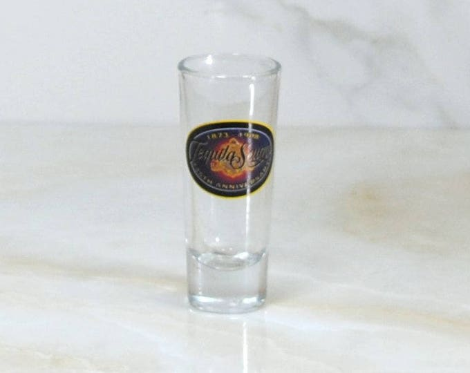Vintage Tequila Sauza Tall Shot Glass 125th Anniversary 1873-1998
