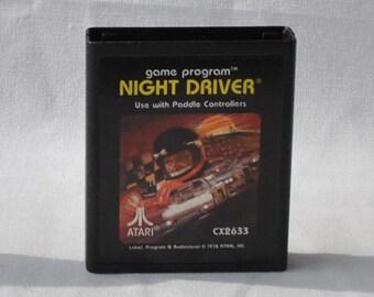 Vintage Atari 2600 Game, Night Driver, Atari, 1978