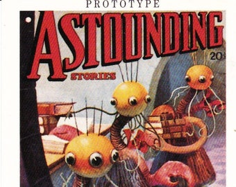 Trading Card, Astounding Stories, Prototype, 21st Century Archives, Astounding Science Fiction Magazine, Promotional Card, 1995