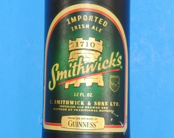 Beer Tap Handle Smithwicks Imported Irish Ale Glass Beer Bottle Tap Handle 9""