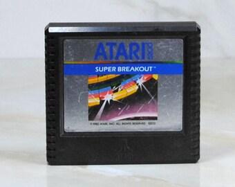 Vintage Atari 5200 Game, Super Breakout, Atari, 1982