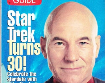 Vintage TV Guide Star Trek August 1996 Star Trek Turns 30 Patrick Stewart TV Guides Special Collector's Series Celebrate Star Trek