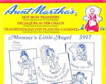 Aunt Martha's Hot Iron Transfers Mommys Little Angel 3917
