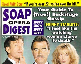 Soap Opera Digest Magazine, August 10, 1999, Kimberlin Brown, Terri Conn, Jaime Dudney, Michael Strickland, SOD, Movie Stars