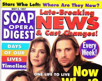 Soap Opera Digest Magazine, May 6, 1997, Elizabeth Keifer, Cynthia Watros, Wendy Moniz