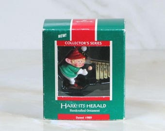 Vintage Hallmark Ornament, Hark! It's Herald, Christmas Ornament 1989