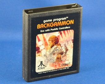 Vintage Atari 2600 Game, Backgammon, 1979