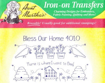 Aunt Martha's Hot Iron Transfers Bless Our Home 4010