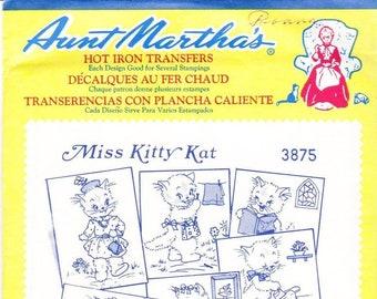 Aunt Martha's Hot Iron Transfers, Miss Kitty Kat #3875