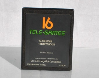 Vintage Atari 2600 Game, Gunslinger, Sears Tele-Games, 1982