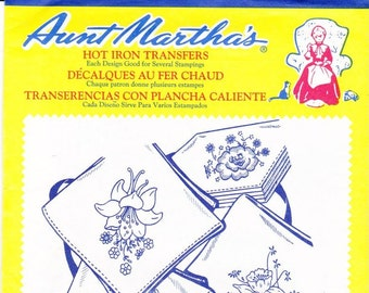 Vintage Aunt Martha's, Hot Iron, Transfers, Colonial Patterns, RETIRED, 3605