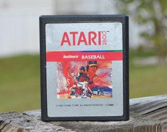 Vintage Atari 2600 Game, Realsports Baseball, Atari, 1981