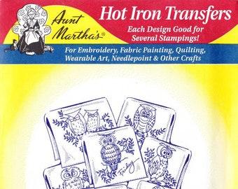 Aunt Martha's Hot Iron Transfers Hooty Owls 3771
