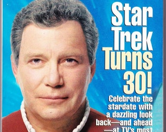 Vintage TV Guide Star Trek August 1996 Star Trek Turns 30 William Shatner TV Guides Special Collector's Series Celebrate Star Trek