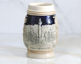 Vintage German Beer Stein Made in Germany by Wekara, 1960s, Innsbruck