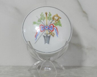 Vintage Trinket Dish, Lancome By Limoges, Porcelain Bicentenaire Revolution Francaise