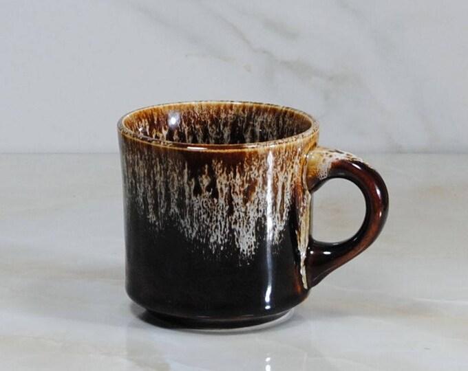 Vintage Brown Drip Glaze Mug by USA Pottery, Brown Drip Glaze Coffee Cup, Hot Cocoa Cup, Mid Century, Modern Coffee Cup, Camping Mug, Retro