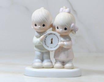 Vintage Precious Moments Figurine 1st Anniversary Jonathan And David, 1983, E-2854 Enesco