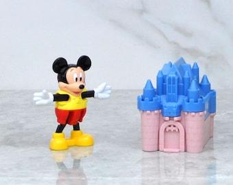Vintage Blockbuster, Exclusive, Walt Disney, Mickey Mouse, Blue Castle Toy, 1996, Disney World, Blockbuster Video, Toy, winterparkcollect