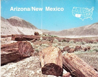 Vintage AAA Travel Guide Arizona/New Mexico 1985 Sights, Accommodations, Destinations