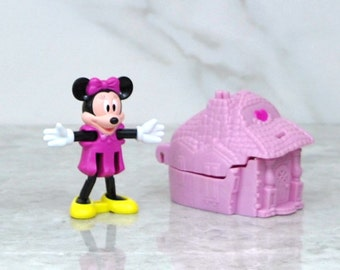Vintage Blockbuster Exclusive Walt Disney Minnie Mouse Blue Castle Toy, 1996