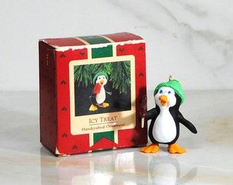 Vintage Christmas Decoration, Hallmark Ornament, Icy Treat 1987