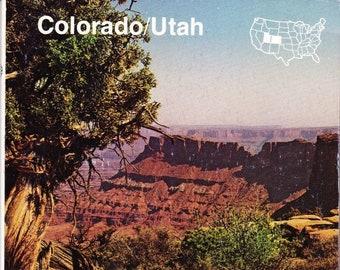 Vintage AAA Travel Guide Colorado/Utah 1987 Sights, Accommodations, Destinations