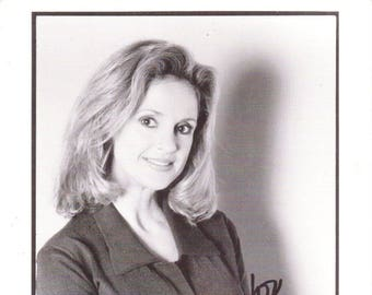 Vintage Jacklyn Zeman Autographed 8 1/2 x 5 1/2 Black And White Photograph, Super Soap, Weekend, November 8-9, 1997, General Hospital
